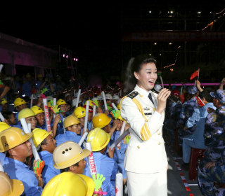 Chinese Superstar Song Zuying Performs on Disputed Spratly Islands in South China Sea