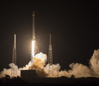 SpaceX Lands Falcon 9 Rocket at Sea During Japanese Satellite Launch