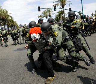 Police Disperse Protests Near Trump Event in California