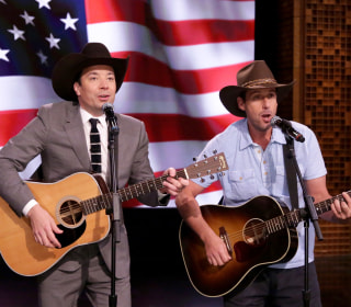 Watch Jimmy Fallon and Adam Sandler Serenade Troops for Fleet Week