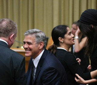 Pope Gives Awards to Salma Hayek, George Clooney and Richard Gere