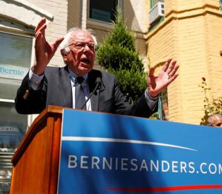 Pro-Sanders Protests Take Striking Anti-Clinton Tone