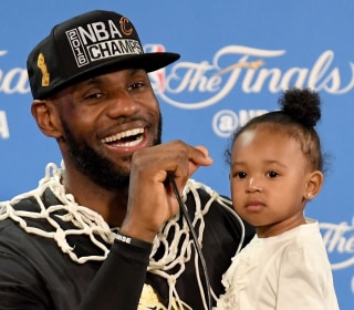 LeBron James' Adorable Daughter Steals Show After NBA Finals Win