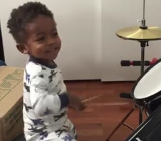 Watch This 1-Year-Old Drummer Rock Out