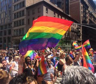 Latinos Remember Orlando, and Celebrate Unity, at Gay Pride Parade