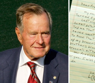 George H.W. Bush Politely Shoots Down 5-Year-Old's Case for Him to Eat Broccoli