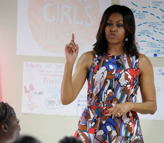Michelle Obama, Daughters, and Mother Land in Liberia for visit