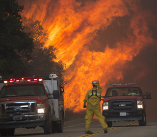 California Wildfire Triples in Size Under Hot, Dry Conditions