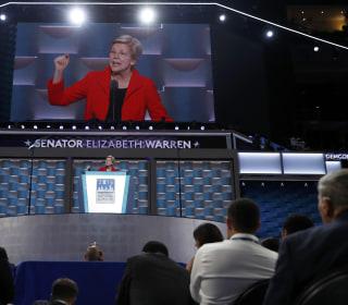 A Subdued Elizabeth Warren Makes Clinton's Case Against Trump
