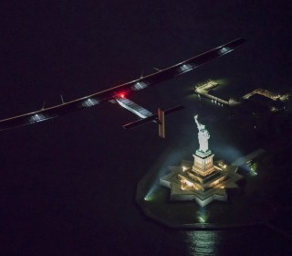 Pyramids and Lady Liberty: Solar Plane Circles the Globe