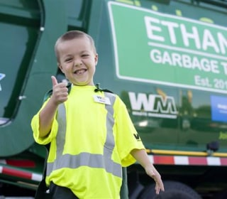 Boy Granted his Wish ... to Be Garbageman for a Day