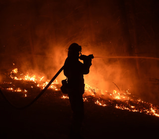 Progress Made Against Wildfire North of L.A., While Big Sur Blaze Grows