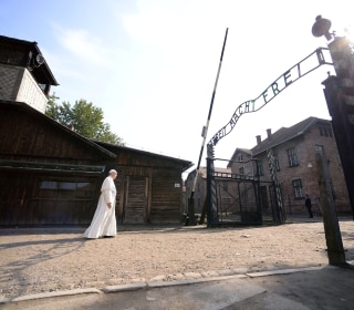 Pope Francis Offers Silent Prayer at Auschwitz