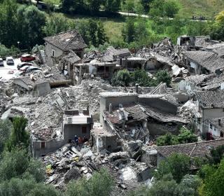 Photos Show Scale of Devastation After Italy Quake