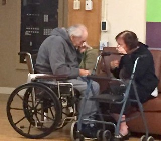 Elderly Couple Forced to Live Apart Weep in Heartbreaking Photo