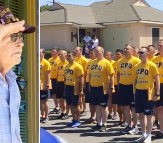 Watch Navy Crew Serenade 98-Year-Old Veteran in Surprise Tribute