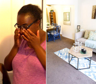 Watch Family's Touching Reaction to Furnished Home After Being Homeless