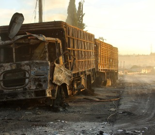Humanitarian Aid Convoy Destroyed as Syrian Cease-Fire Fails