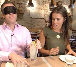 Peter Alexander Dons Blindfold in Support of Ailing Sister