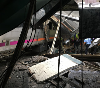 Commuter Train Crashes Into Hoboken, New Jersey, Station
