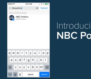NBCNews Launches NBC Politics Bot for Facebook Messenger
