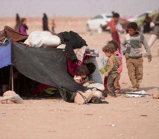 Children Driven From Their Homes by Battle Against ISIS