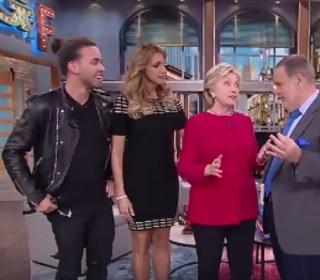'El Gordo y La Flaca' Give Hillary Clinton Tequila for Her Birthday