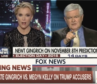 Newt Gingrich, Fox News' Megyn Kelly Clash Over Trump Accusers