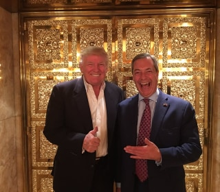 Brexit's Farage Wants Churchill Bust in Trump Oval Office