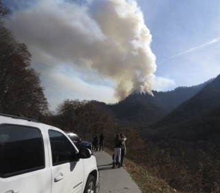 Smoky Mountains Charred by Three Days of Fires