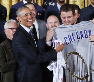 Obama Welcomes World Series Champs Chicago Cubs at White House