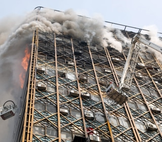 Tehran's Iconic Plasco Building Collapses After Fire; 30 Reportedly Dead