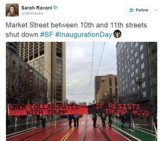Anti-Trump Protesters Blockade Uber HQ in San Francisco