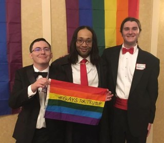 Amid Anti-Trump Protests, One LGBTQ Group Celebrated