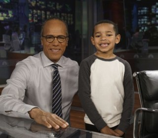 Lester Holt Meets His Biggest Little Fan