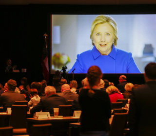 Hillary To Trump Foes: Keep Up 'Resistance And Persistence'