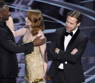 Oscars Best Picture Fiasco Unfolds Onstage at Academy Awards