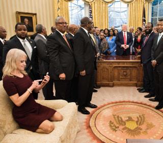 Kellyanne Conway's Feet on Oval Office Couch Kick Off Debate