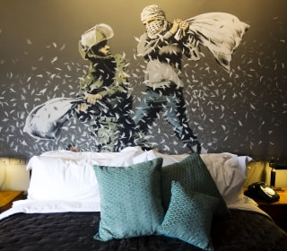 Banksy Opens West Bank Hotel With World's 'Worst View'