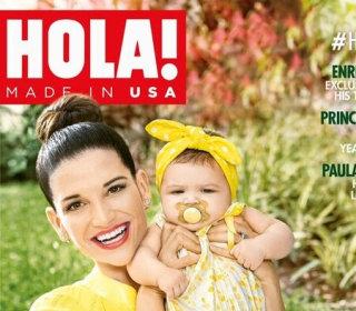 Natalia Jiménez of La Voz Kids, Graces Cover of HOLA! USA With 6-Month Old Daughter