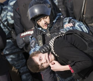 Russian Opposition Leader Alexei Navalny Detained During Moscow Protest
