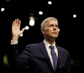 Trump Supreme Court Pick Neil Gorsuch Takes Place On High Court Bench