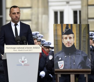 Partner of Slain Paris Police Officer Gives Heartbreaking Eulogy
