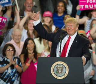Trump Touts First 100 Days Record, Slams the Press in Campaign-Style Rally