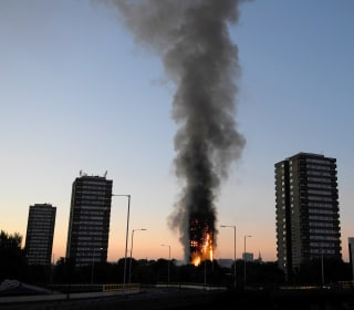 Fire Rages Through Apartment Tower in London