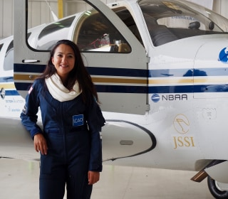 29-Year-Old Refugee Pilot Flies Around the World to Promote Women in STEM