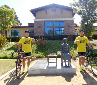 Korean Students Begin Cross-Country Bike Ride for 'Comfort Women' Awareness