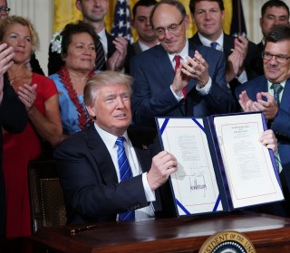 Trump Signs 'Historic' Bill to Transform Veterans Affairs