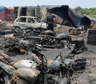Pakistan Oil Tanker Crash, Explosion Kills at Least 148