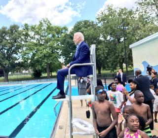 Making a Splash: Joe Biden Returns to His Old Lifeguard Chair